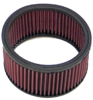 K & N ROUND AIR CLEANER / FILTER ELEMENT - PERFECT FOR VINTAGE / CLASSIC AMERICAN V8 TIN !!