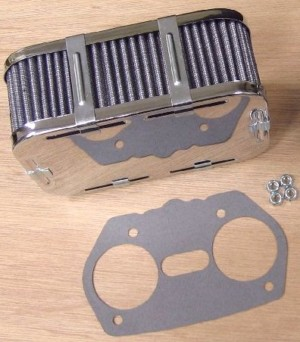WEBER / DELLORTO / SOLEX CARBURETTOR CHROME DRLA / IDF AIR FILTER 63MM