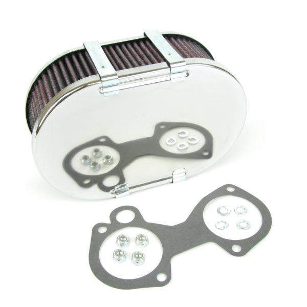 WEBER DCOE, DELLORTO DHLA & SOLEX ADDHE CARBURETTOR AIR FILTER/CLEANER (63MM)