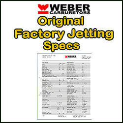 Click to go to Weber Original Factory Jettings Specs category....