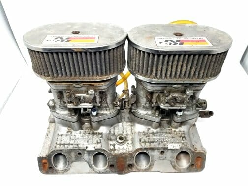 FIAT TWINCAM 124 / 131 WEBER 40 IDF 13 / 15 CARBURETTORS, MANIFOLD & amp; AIR FILTER ASSEMBLY