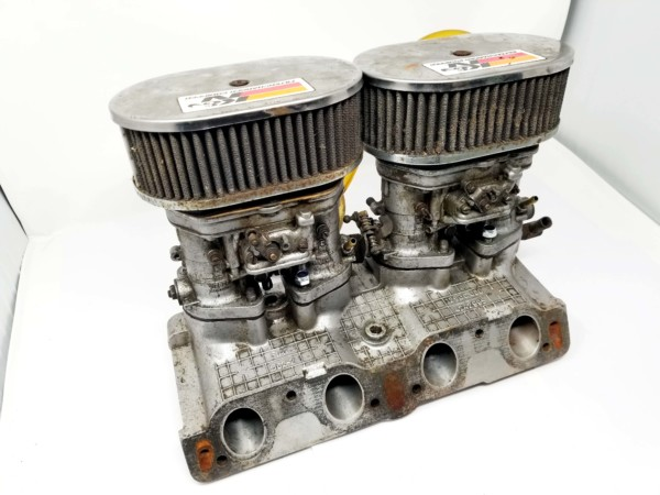 FIAT TWINCAM 124 WEBER 40 IDF 13 / 15 CARBURETTORS, MANIFOLD & AIR FILTER ASSEMBLY