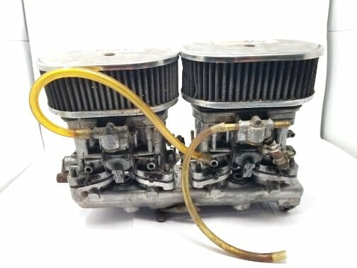FIAT TWINCAM 124 WEBER 40 IDF 13 / 15 CARBURETTOR, MANIFOLD & AIR FILTER ASSEMBLY