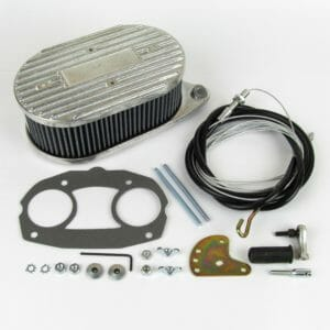 WEBER IDF & DELLORTO DRLA CARBURETTOR LUCHT FILTER + THROTTLE LINKAGE KIT (COMBO) CB PRESTASIE