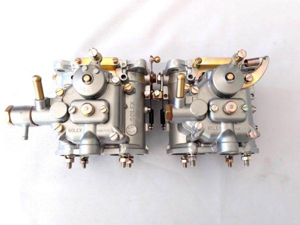 PAIR ORIGINAL SOLEX C 42 DDHF CARBURETTORI ZA CLASSIC LANCIA FULVIA 1.6 HF MOTOR