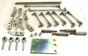 CLASSIC JAGUAR V12 ENGINE PRE-HE 6 x WEBER IDF CARBURETTOR THROTTLE LINKAGE KIT