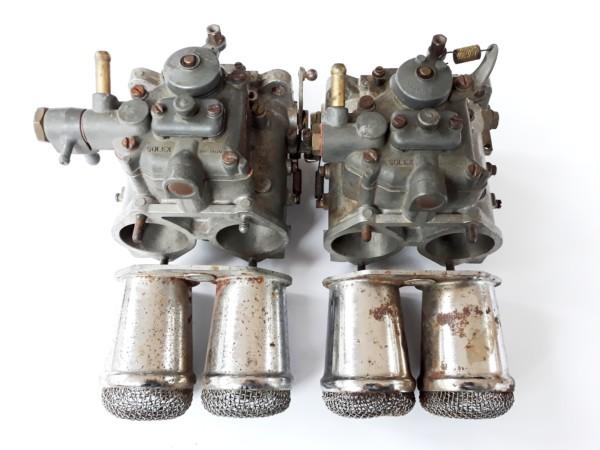 PAIR ORIGINAL SOLEX C 42 DDHF CARBURETTORS FOR CLASSIC LANCIA FULVIA 1.6 HF ENGINE