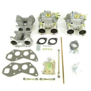 WEBER 45 DCOE CARBURETTOR, THROTTLE LINKAGE & INTAKE MANIFOLD KIT - TRIUMPH TR4 ENGINE