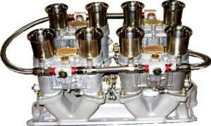 WEBER 48 IDA CARBURETTOR, MANIFOLD & LINKAGE KIT FOR SBC CHEVY V8 302/327/350 ENGINE