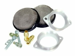WEBER 40 IDF CARBURETZA LOW-PROFILE AIR HORN / TRUMPET / STACK eta FILTER MESH COMBO