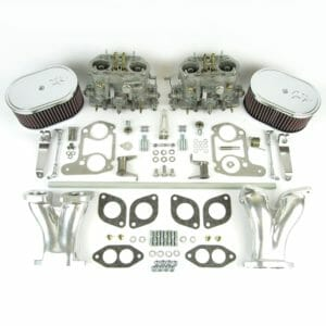 AIR-COOLED VW TYPE 1 ENGINE TWIN DELLORTO DRLA 40 CARBURETTOR CONVERSION KIT (CSP & K&N)