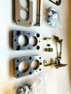 AMC JEEP 4.2L 6-CYL WEBER DGEV OF DGES CARBURETTOR CONVERSION PLATE ADAPTER KIT