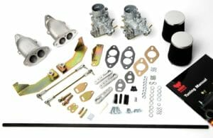 KITO DE KONVERSIO DE TIE KARBURETTOR DUAL WEBER 34 por AIR-COOLED VW T1 & T2 TWIN PORT ENGINES