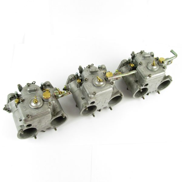 WEBER 45 DCOE 9 CARBURETTORS (x 3 SET RECONDITIONED)