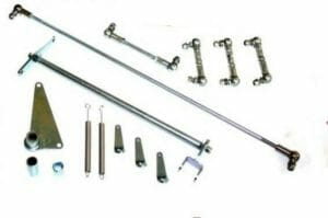ASTON MARTIN DB4 / DB5 / DB6 6CYL ENGINE TRIPLE WEBER 45 DCOE LINKAGE KIT TAGARRIKOA