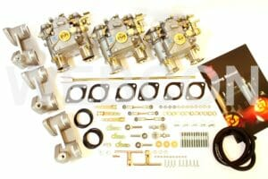 WEBER 40 DCOE CARBURETTOR CONVERSION KIT FOR BMW 628, 630 & 635 6-CYLINDER M30 ENGINE