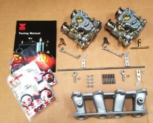 WEBER 40 DCOE CARBURETTOR CONVERSION KIT FOR THE SUNBEAM ALPINE 1725 ENGINE