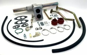 VW T1 / T2 1600 БИБЛИЈАТА TWIN ПОРТ МОТОР WEBER CARBURETTOR MANIFOLD KIT