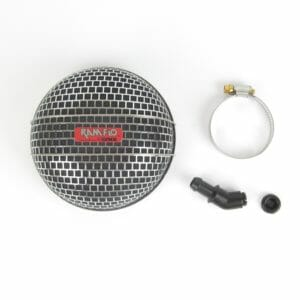 LYNX RAMFLO AIR FILTER/CLEANER ASSEMBLY FOR ROUND TOPS (58.8MM NECK FITTING)