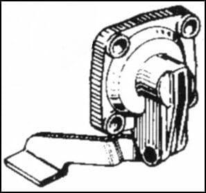 Akseleratora sūkņa pārsegs