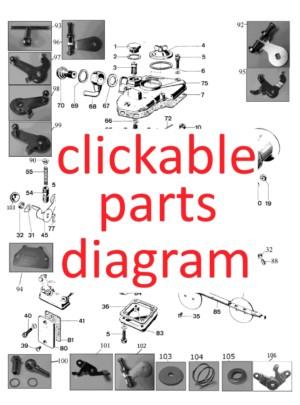 DCOE dijagram dijelova koji se može kliknuti
