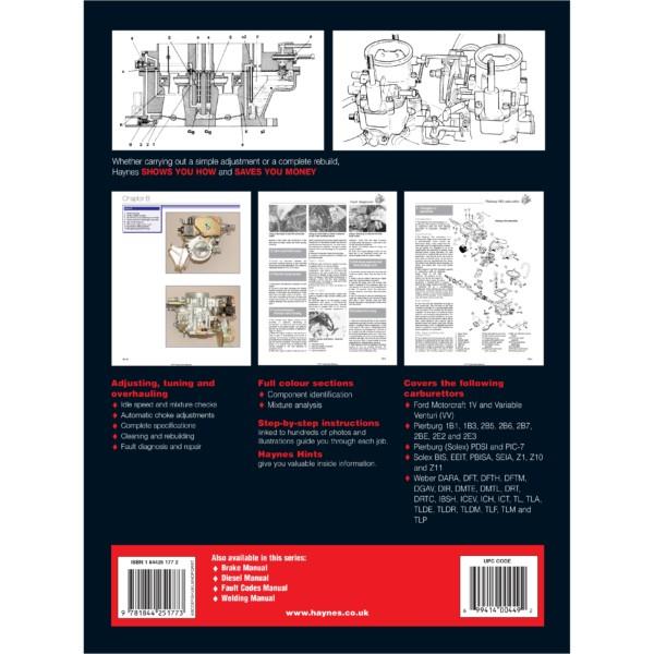 HAYNES SOLEX / FoMoCo / PIERBURG / WEBER Карбюратар WORKSHOP MANUAL BOOK