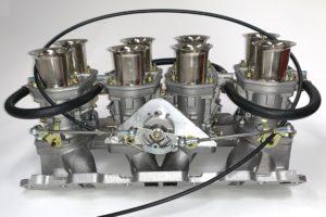 ROVER V8 WEBER 44 IDF INLINE komplekt (kollektor, ühendus ja karburaatorid)