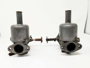 Par de carburadores / carburadores SU H4 4031 vintage de cuello alto para repuestos o reparación