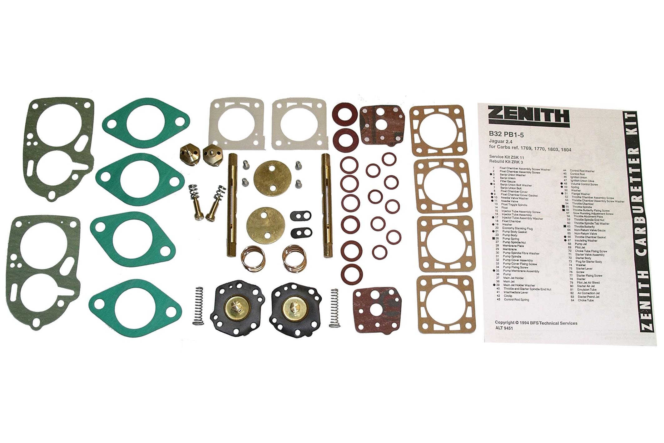 Rebuild Kit for Solex 32-34 Z2 carburetor