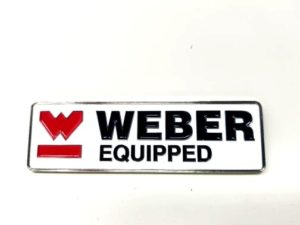 99901.480 WEBER EQUIPPED metallist märk