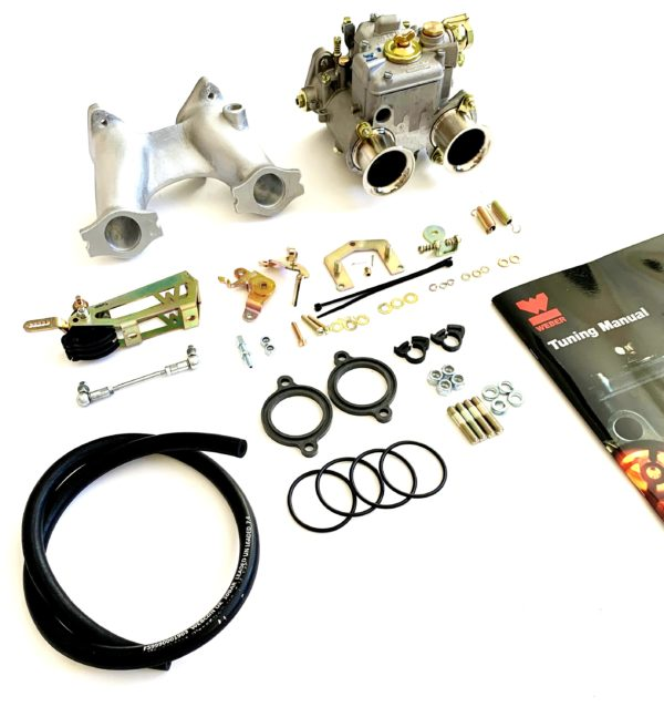 BMC Serie A Engine 1 X WEBER 40 DCOE Carburettor Conversion kit