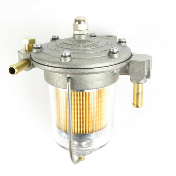 Malpassi Filter King pressure regulator 85mm clear glass bowl with gauge