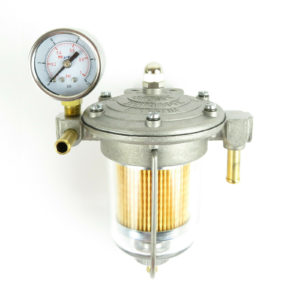 Malpassi Filter King pressure regulator 85mm clear glass bowl with gauge