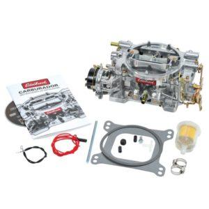 Edelbrock Weber 500 CFM karburator med elektrisk choke, satinfinish (ikke-EGR)