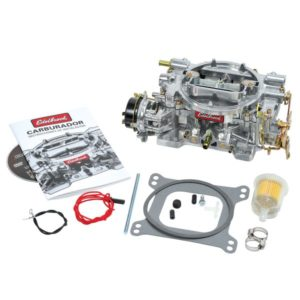 Edelbrock Weber 600 CFM karburator med elektrisk choke, satinfinish (ikke-EGR)