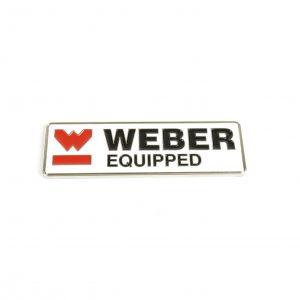 99901.480 WEBER EQUIPPED Μεταλλικό σήμα