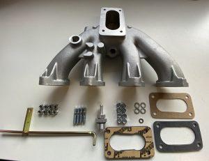 Støbt aluminiumsindløbsmanifold til at passe 1 x Weber 32/36 karburator til BMW 2000 /2002 -motorer.