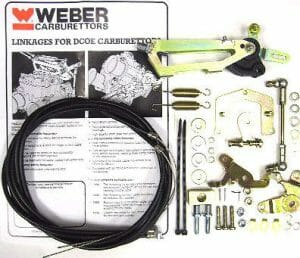 WEBER DCOE & DCO/SP CARBS TWIN CABLE TOP MOUNTED THROTTLE LINKAGE KIT