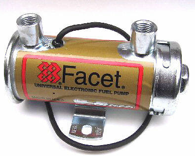 FACET 'RED-TOP' ELECTRONIC 12V BRÆNDSTOFPUMP (200 + BHP)