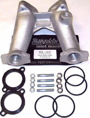 CLASSIC MINI A-SERIES ENGINE 6'' INLET MANIFOLD KIT TWIN 45 WEBER/DELLORTO CARBS