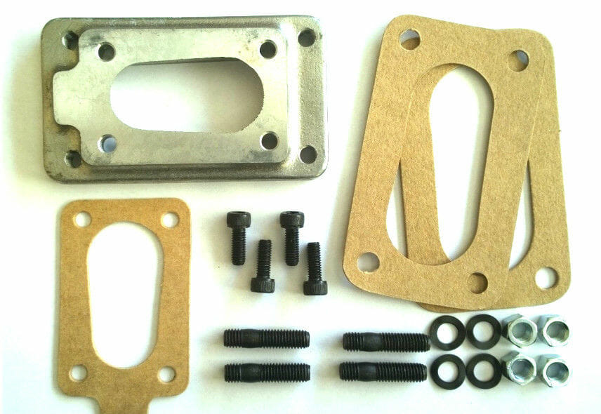 نيسان / DATSUN / هوندا CIVIC / ACCORD WEBER CARBURETTOR MANIFOLD ADAPTER PLATE KIT