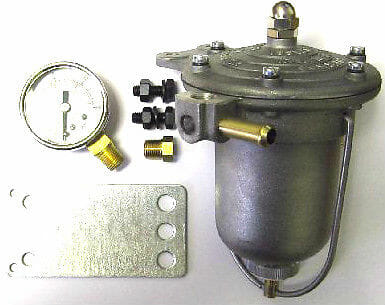 MALPASSI FILTER KING FUEL PRESSURE REGULATOR & GAUGE - WEBER/DELLORTO TWIN CARBS