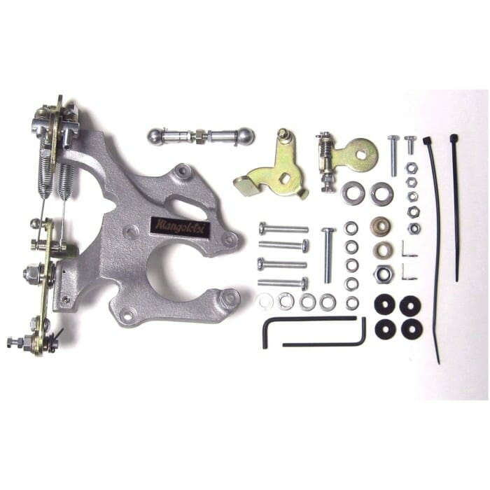 MANGOLETSI THROTTLE LINKAGE KIT FOR WEBER DCOE CARBURETTORS (TWIN CABLE)