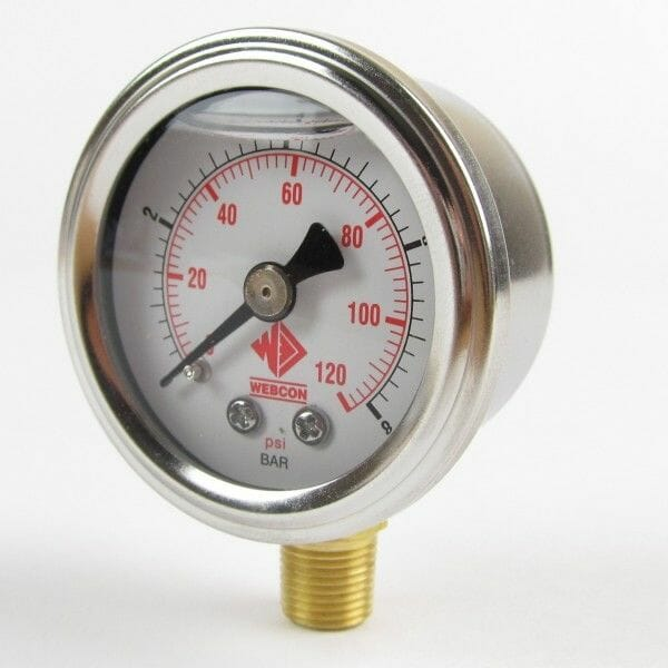 EFI FUEL PRESSURE GAUGE 1-8 BAR / 0-120PSI 1 / 8 NPTF FUEL INJECTION - FLUID FILLED